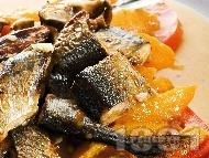 Печена риба зерган с кайсии